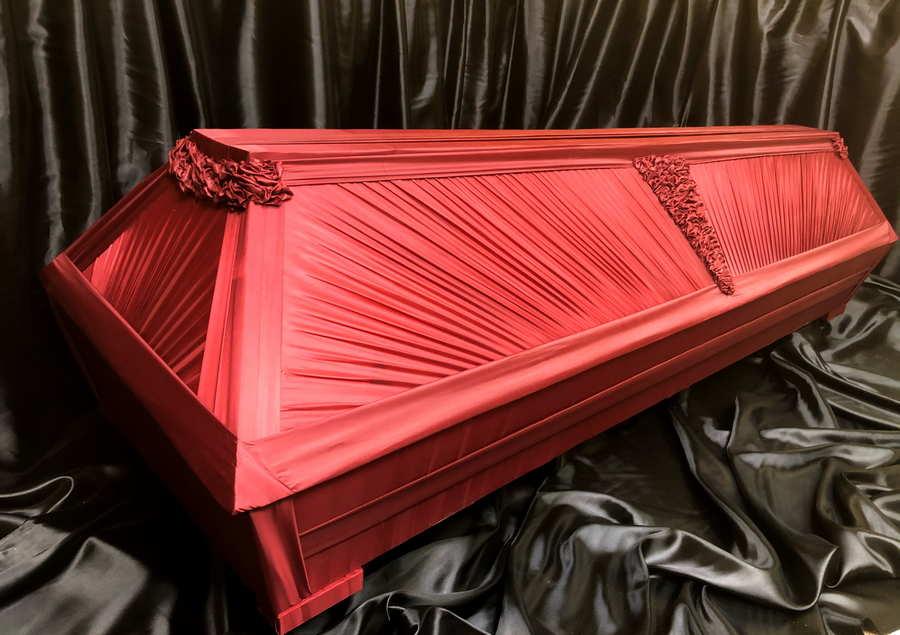 Драпированный гроб с боковым узором